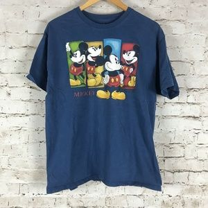 Walt Disney Mickey Mouse T-Shirt Size Large Blue M